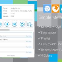 اسکریپت موزیک پلیر شیک Simple Metro Music Player