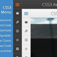 ایجاد منو های زیبا با CSS3 Awesome Menu