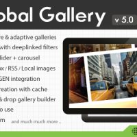 ایجاد گالری در وردپرس Global Gallery v5.0 – WordPress Responsive Gallery