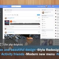 قالب Next برای اسکریپت شبکه اجتماعی phpDolphin v1.2