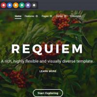 دانلود رایگان قالب Requiem ورژن 1 برای جوملا