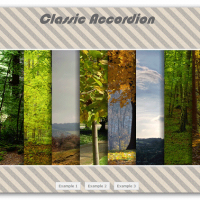 گالری تصویر classic accordion به صورت html