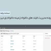 افزونه فارسی مدیریت زمینه دلخواه وردپرس نسخه حرفه ای ۵.۲.۲