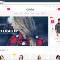 قالب فروشگاهی ووکامرس Creta responsive WordPress WooCommerce