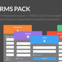 ساخت فرم های بی نظیر فلت Flat Forms Pack